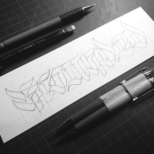 Grounded - Calligraphy Sketch