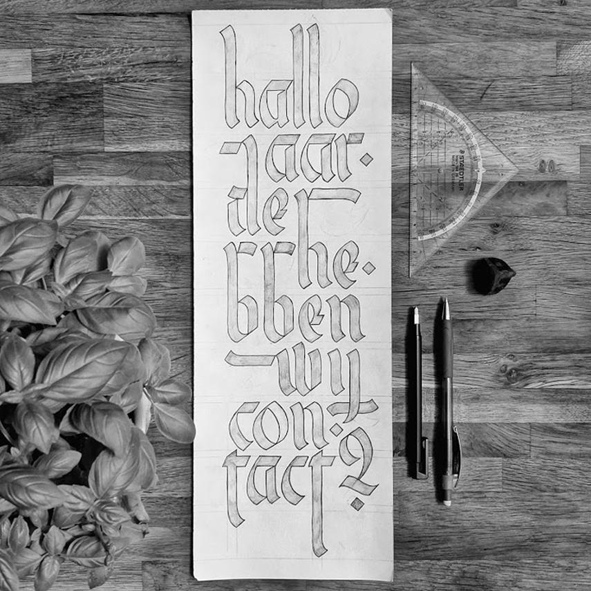 HalloAarde - Calligraphy Illustration