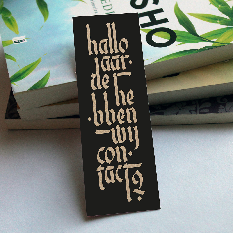 Hallo Aarde, hebben wij contact? - Calligraphy