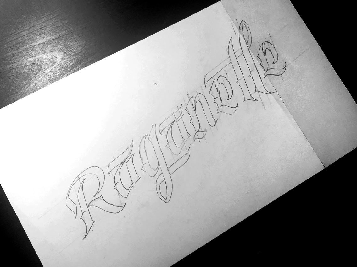 Raganelle - Lettering Sketch